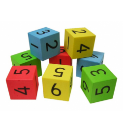 Silent Dice with numbers Set 8pcs