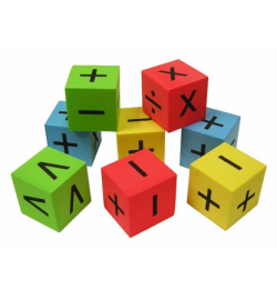 Silent Dice with Signs Set 8pcs