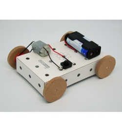 Car chassis with Pulleys using Techcard