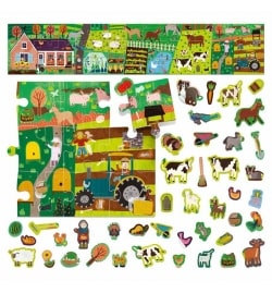 Puzzle + Stickers The Farm