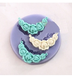 Silicone Mold Necklace flower 72x9mm