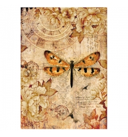 """Ricepaper A4: """"Vintage Butterfly"""""""